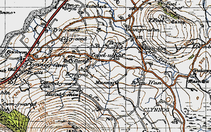 Old map of Afon Desach in 1947