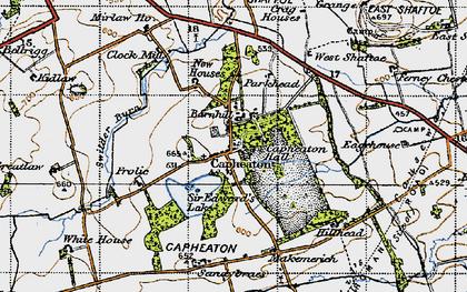 Old map of West Shaftoe in 1947