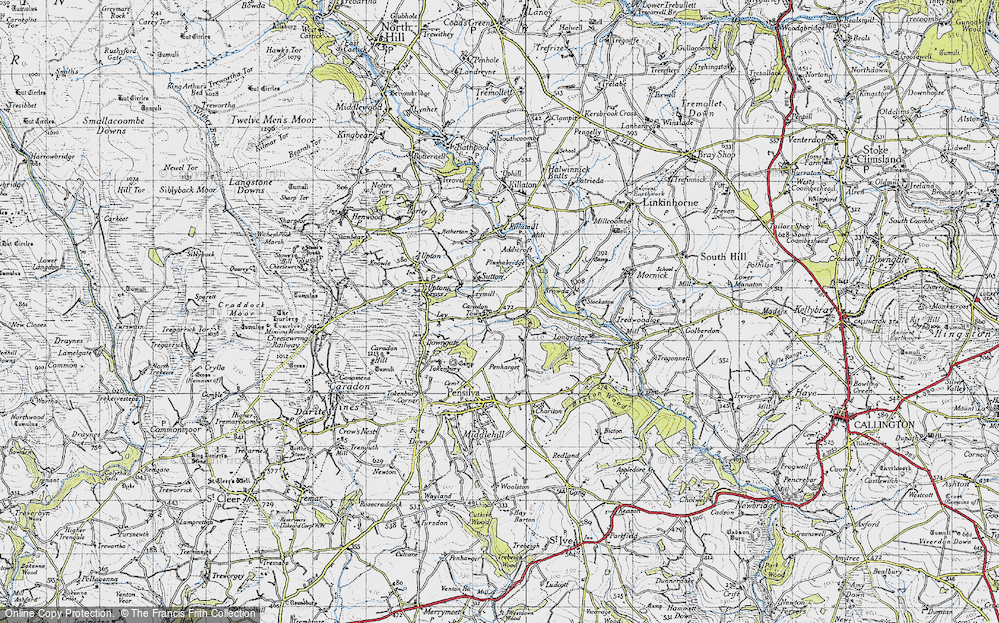 Old Map of Historic Map covering Addicroft in 1946