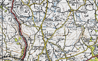 Old map of Carclaze in 1946