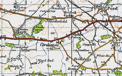 Old map of Whiston Priory in 1947