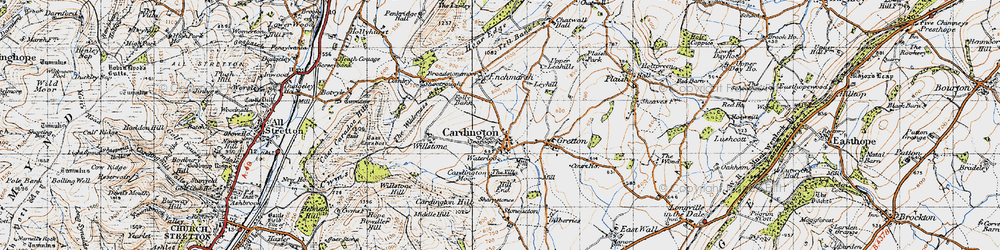 Old map of Cardington in 1947