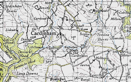 Old map of Cardinham in 1946