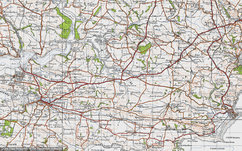 Old Map of Carew, 1946 in 1946