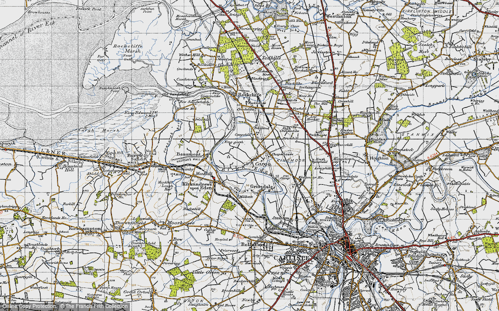 Old Map of Historic Map covering Bankend in 1947