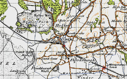 Old map of Cark in 1947