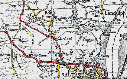 Old map of Carkeel in 1946