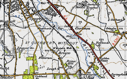 Old map of Woodbank Ho in 1947