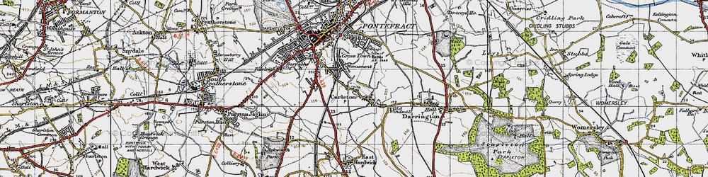 Old map of Carleton in 1947