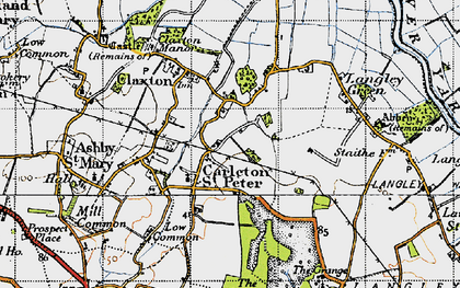 Old map of Langley Green in 1946