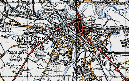 Old map of Carlisle in 1947