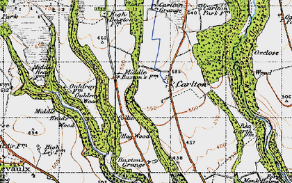 Old map of Ash Dale in 1947