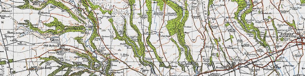 Old map of Acre Grain Plantn in 1947