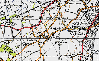 Old map of Carlton Colville in 1946