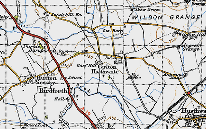 Old map of Carlton Husthwaite in 1947