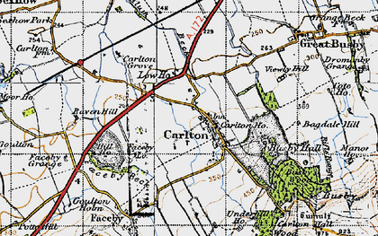 Old map of Thwaites Ho in 1947
