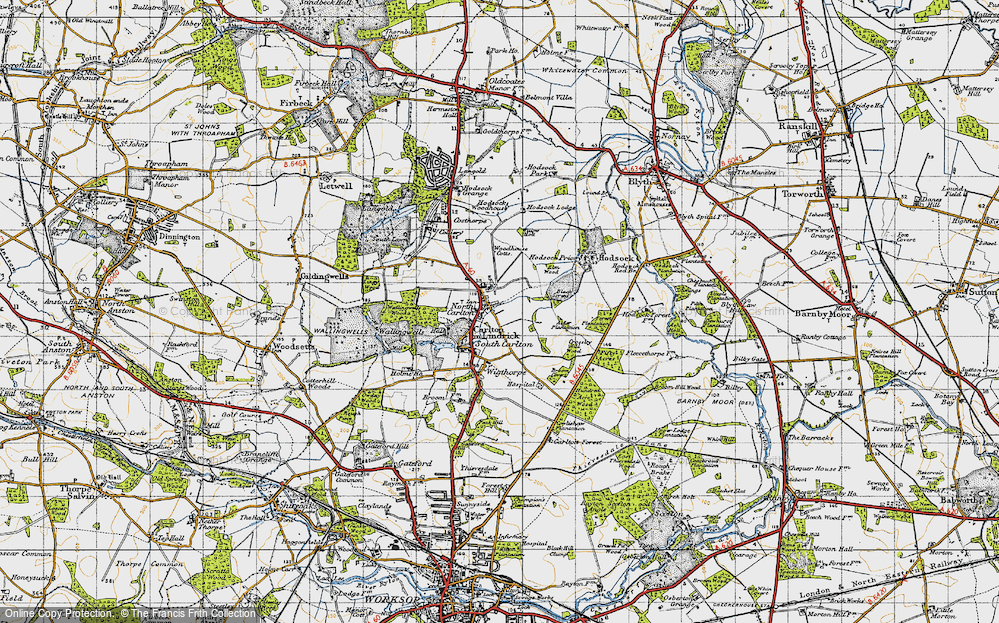 Old Map of Historic Map covering Alder Plantation in 1947