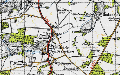 Old map of Willow Holt in 1947