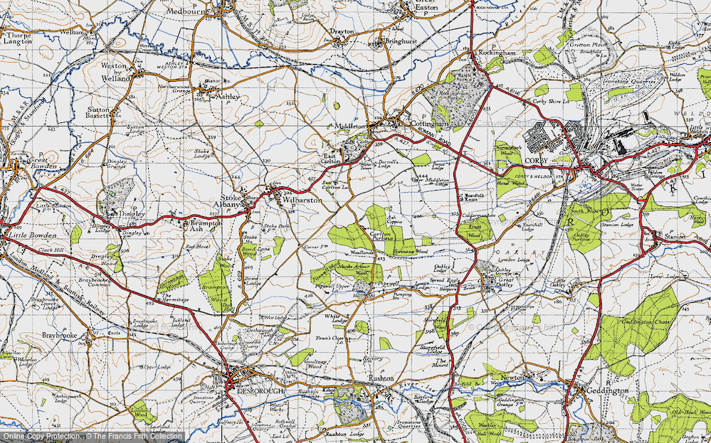 Old Map of Historic Map covering Askershaw Wood in 1946
