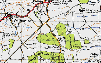 Old map of Askershaw Wood in 1946
