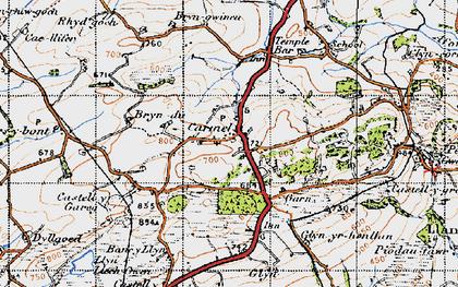 Old map of Carmel in 1947