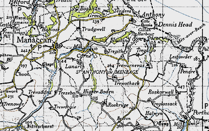 Old map of Carne in 1946