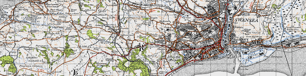 Old map of Carnglas in 1947