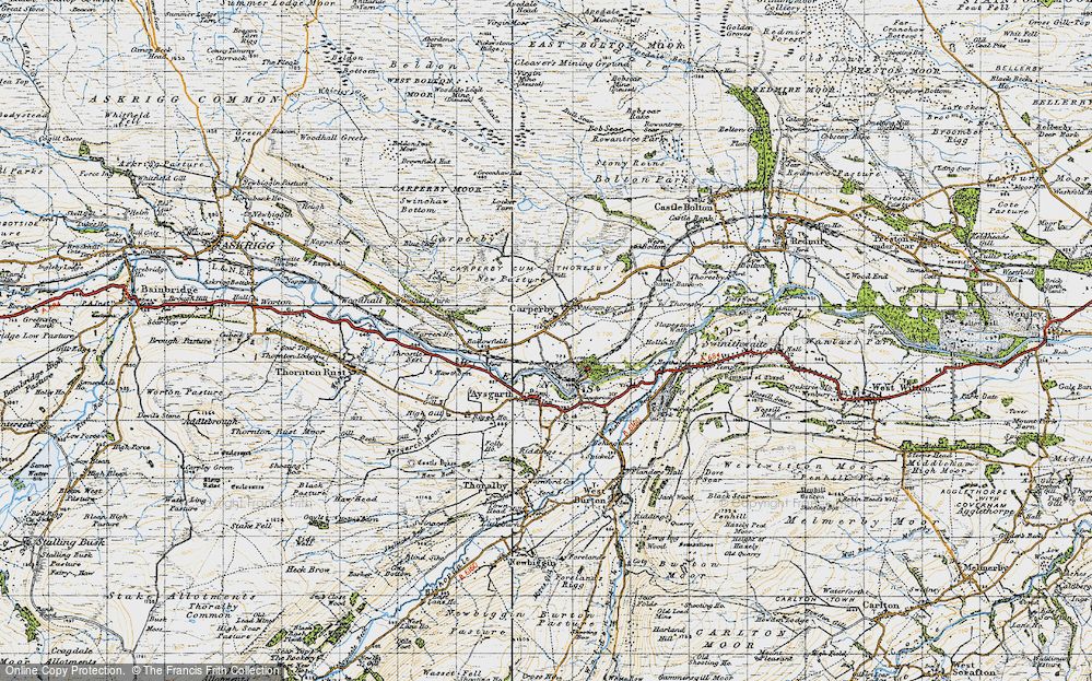 Old Map of Historic Map covering Ballowfield in 1947