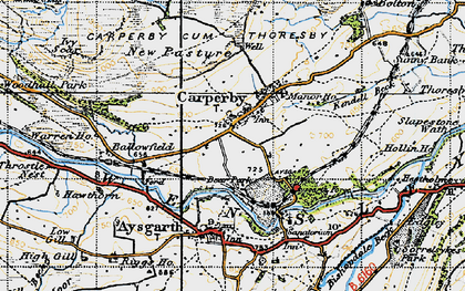 Old map of Ballowfield in 1947