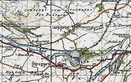 Old map of Carperby in 1947