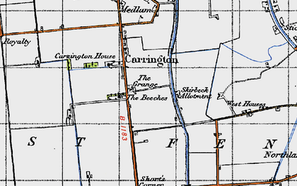 Old map of Barkers Yard in 1946