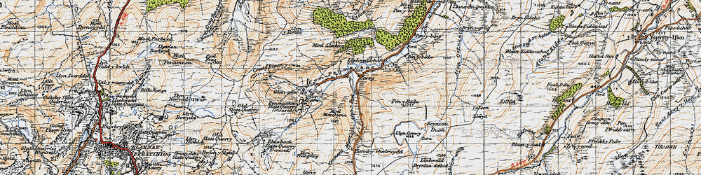 Old map of Carrog in 1947