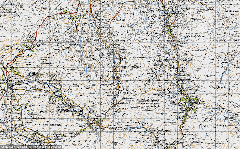 Old Map of Carrshield, 1947 in 1947