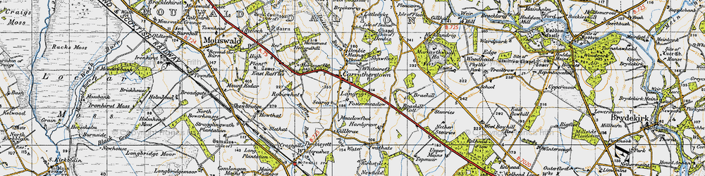 Old map of Whitecroft in 1947