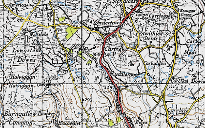 Old map of Carthew in 1946