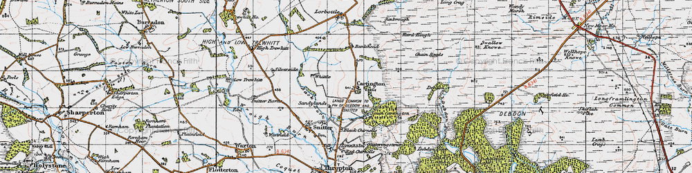 Old map of Whittle in 1947