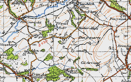 Old map of Carway in 1946