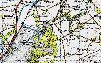 Old map of Willow Pool in 1947
