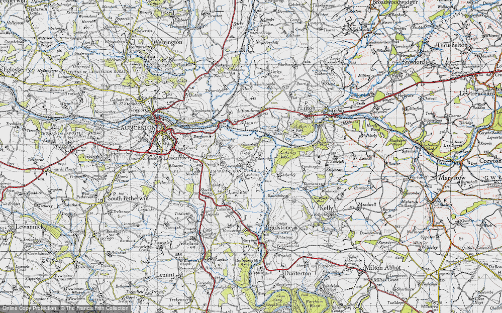 Old Map of Historic Map covering Lewcoombe in 1946