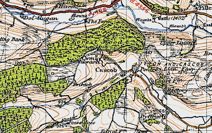 Old map of Cascob in 1947