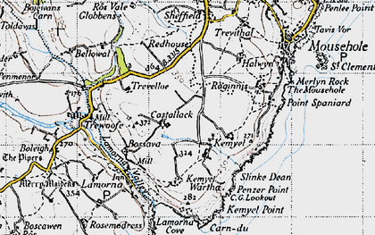 Old map of Castallack in 1946