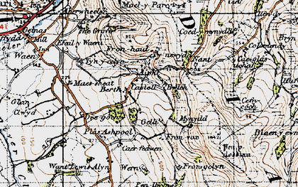 Old map of Castell in 1947