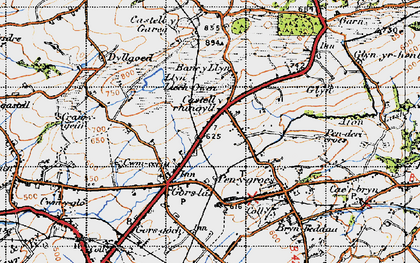 Old map of Castell-y-rhingyll in 1947