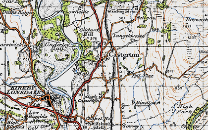 Old map of Casterton in 1947