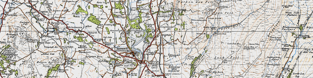 Old map of Whittle Hole in 1947