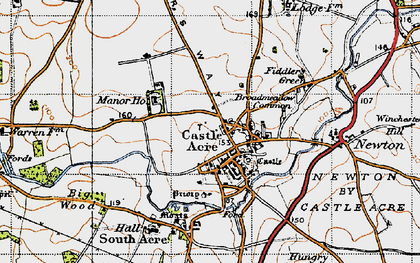 Old map of Bailey Gate in 1946