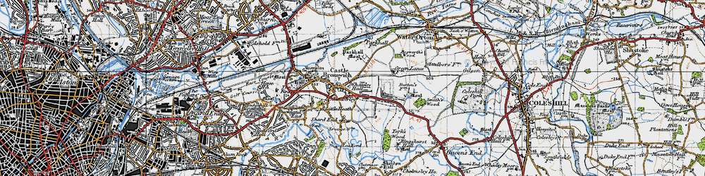 Old map of Castle Bromwich in 1946