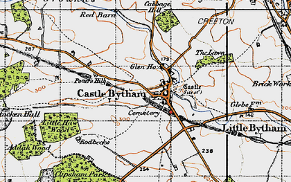 Old map of Castle Bytham in 1946