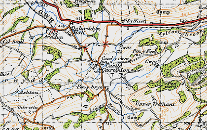 Old map of Y Figyn in 1947