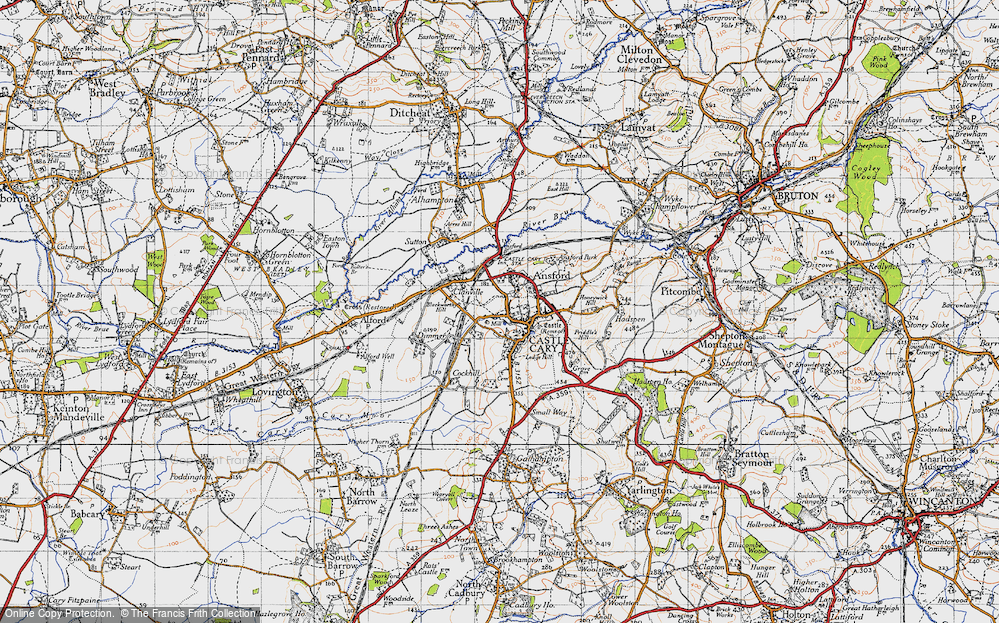Old Map of Castle Cary, 1945 in 1945